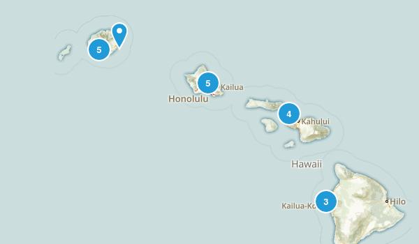 Hawaii Surfing Map