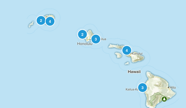 Hawaii Surfing Map
