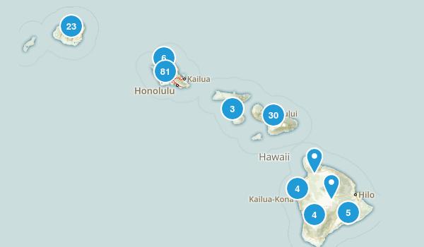 Hawaii Trail Running Map