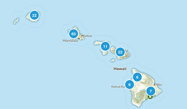 Hawaii Trail Running Map