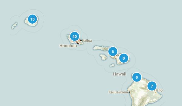 Hawaii Waterfall Map