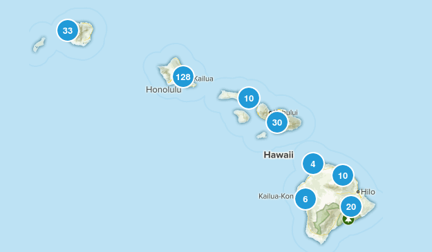 Hawaii Wild Flowers Map