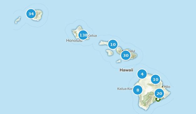 Hawaii Wild Flowers Map