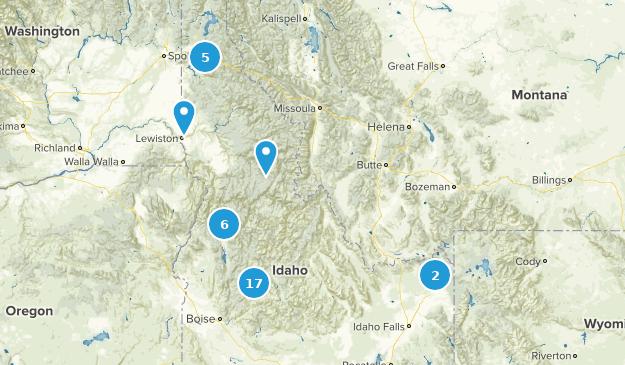 Idaho Cross Country Skiing Map