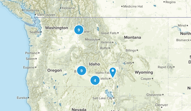 Idaho Local Parks Map