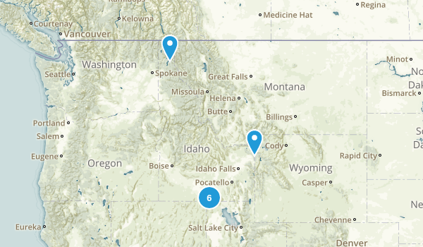 Idaho National Parks Map
