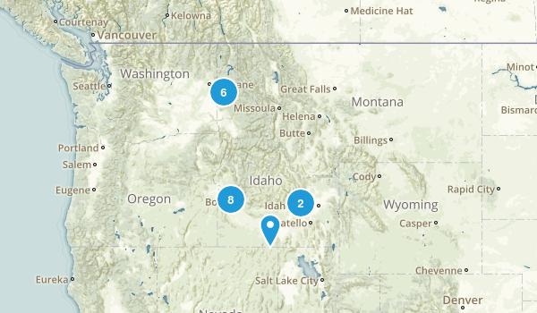 Idaho Road Biking Map