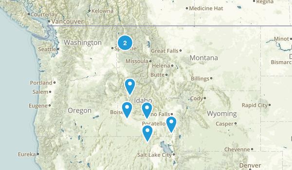 Idaho Skiing Map
