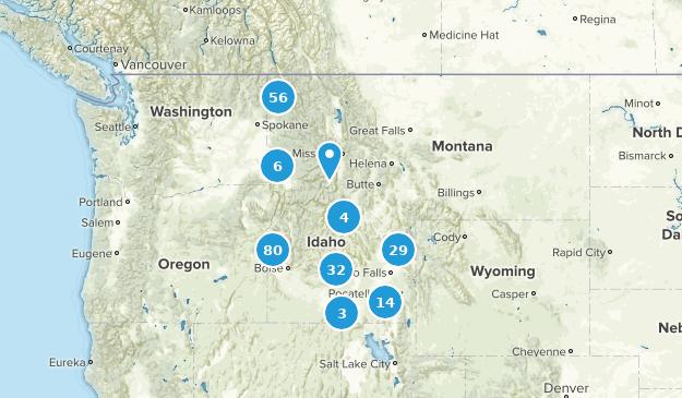 Idaho Trail Running Map