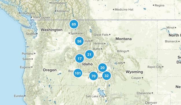 Idaho Walking Map