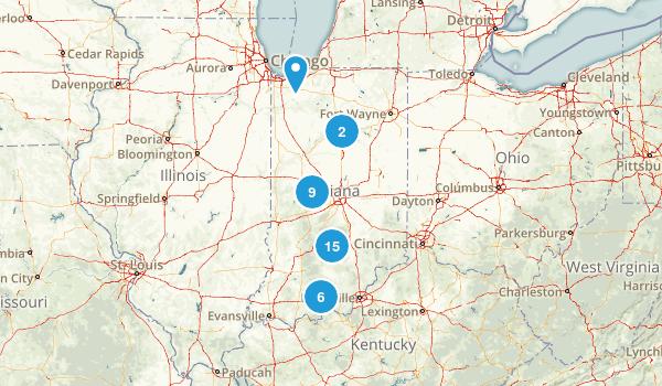 Indiana Camping Map
