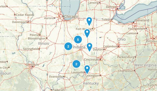Indiana Canoeing Map