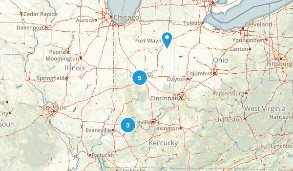 Indiana City Walk Map