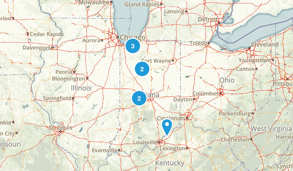 Indiana Cross Country Skiing Map