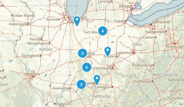 Indiana Dog Friendly Map