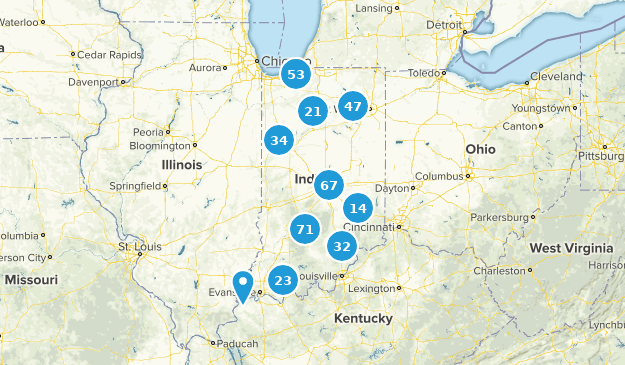 Indiana Nature Trips Map