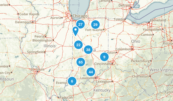 Indiana Parks Map