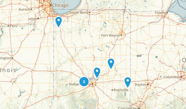 Indiana Rails Trails Map