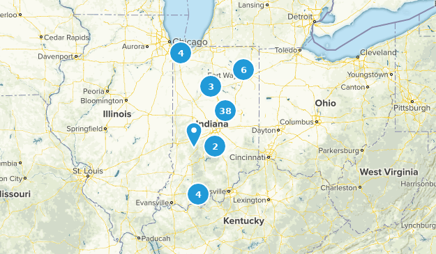 Indiana Stroller Friendly Map