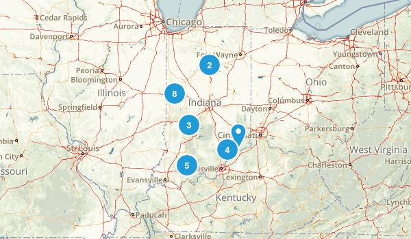 Indiana Waterfall Map