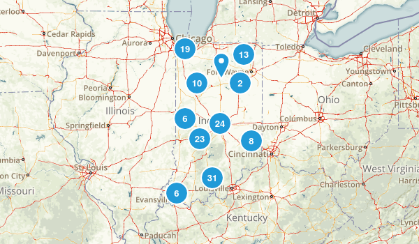 Indiana Wildlife Map