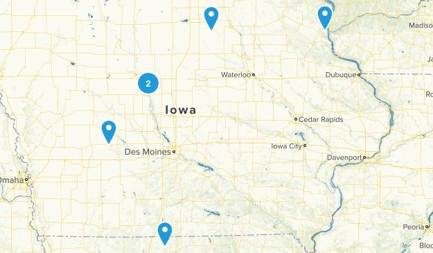 Iowa Backpacking Map