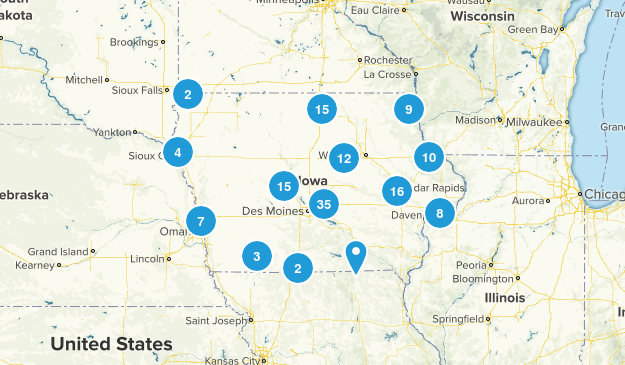 Iowa Birding Map
