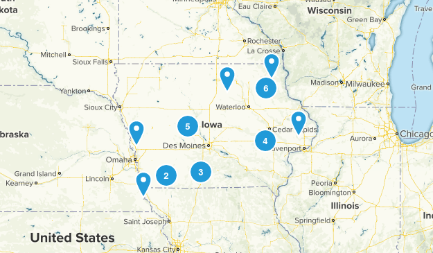 Iowa Camping Map