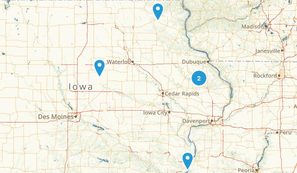 Iowa Cave Map