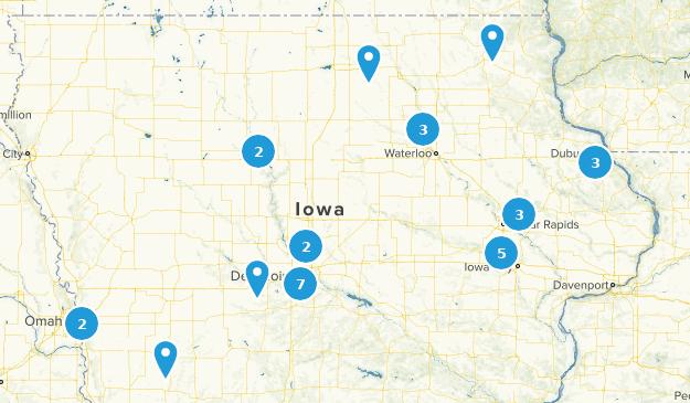 Iowa Cross Country Skiing Map