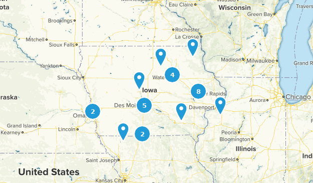 Iowa Fishing Map