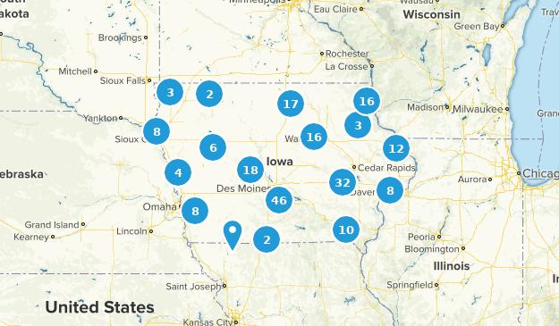 Iowa Hiking Map