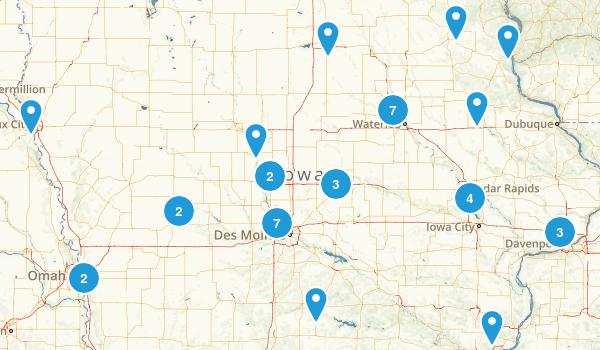 Iowa Mountain Biking Map