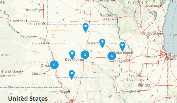 Iowa Paddle Sports Map