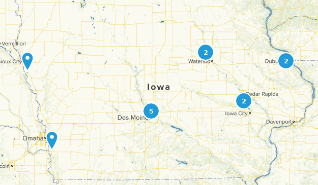 Iowa Partially Paved Map