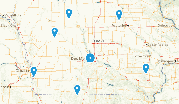 Iowa Rails Trails Map