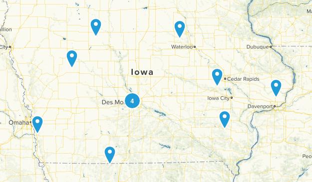 Iowa Rails Trails Map