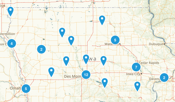 Iowa Road Biking Map