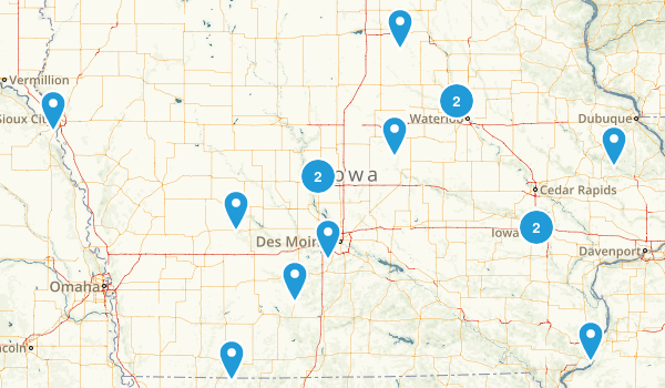 Iowa Snowshoeing Map
