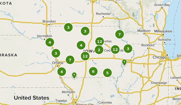 map of iowa state parks Best State Parks In Iowa Alltrails map of iowa state parks