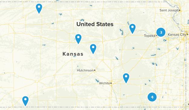 Kansas Camping Map