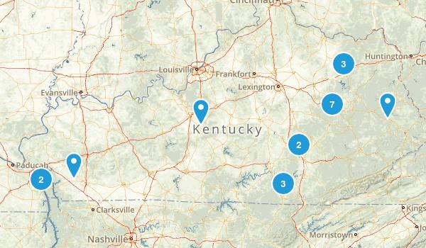 Kentucky Backpacking Map