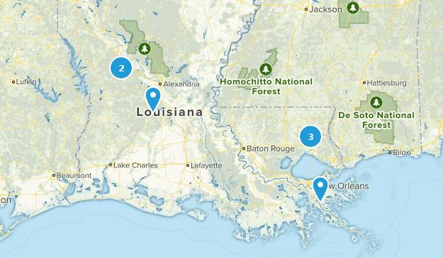 Louisiana Horseback Riding Map