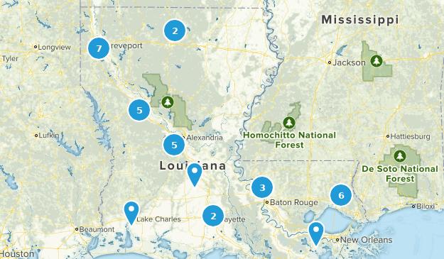 Louisiana Mountain Biking Map