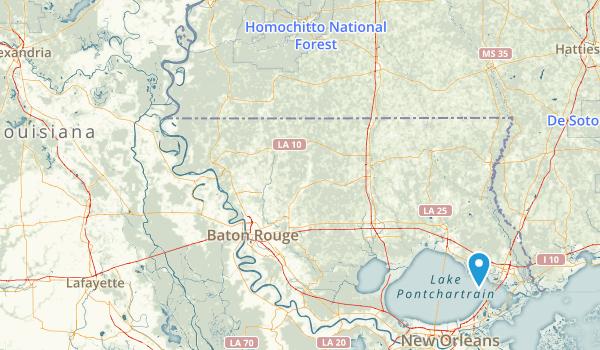Louisiana National Parks Map