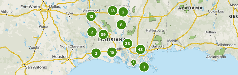Map of trails in Louisiana