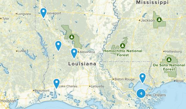 Louisiana Road Biking Map