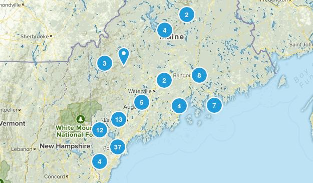 Maine Cross Country Skiing Map