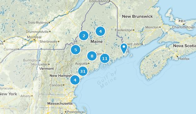 Maine Fishing Map