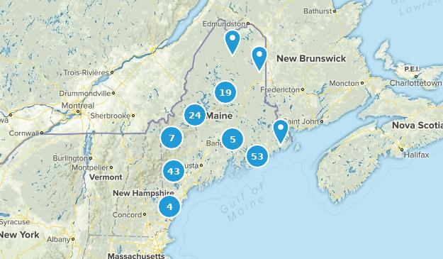 Maine Lake Map